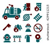 Firefighting Icon Set