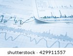 showing business and financial... | Shutterstock . vector #429911557