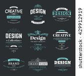 retro creative vintage labels... | Shutterstock .eps vector #429912919