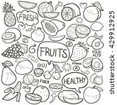 fruits doodle icon hand made | Shutterstock .eps vector #429912925