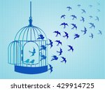 vector silhouettes  a flock of... | Shutterstock .eps vector #429914725