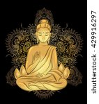 buddha sitting in the lotus... | Shutterstock .eps vector #429916297