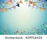 celebrate bunting flags ... | Shutterstock .eps vector #429916435