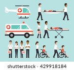 group of doctors  nurses ... | Shutterstock .eps vector #429918184
