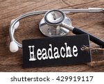 stethoscope on wood with...   Shutterstock . vector #429919117