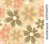 flower pattern | Shutterstock .eps vector #429934495