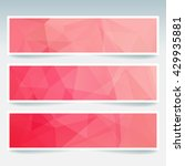 abstract banner with business... | Shutterstock .eps vector #429935881