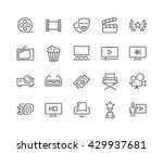simple set of cinema related... | Shutterstock .eps vector #429937681