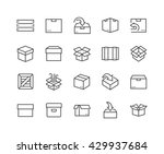 simple set of box related... | Shutterstock .eps vector #429937684