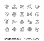 simple set of global navigation ... | Shutterstock .eps vector #429937699