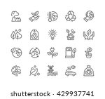 Simple Set of Eco Related Vector Line Icons.  Contains such Icons as Electric Car, Global Warming, Forest, Organic Farming and more.  Editable Stroke. 48x48 Pixel Perfect.  | Shutterstock vector #429937741
