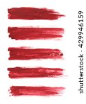 strokes of red paint isolated...   Shutterstock . vector #429946159