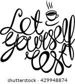 let yourself rest  hand drawn... | Shutterstock .eps vector #429948874