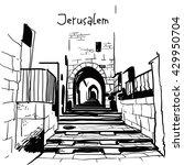 jerusalem  israel old city... | Shutterstock .eps vector #429950704