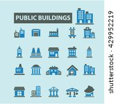 buildings icons  | Shutterstock .eps vector #429952219