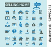 selling home icons  | Shutterstock .eps vector #429952345