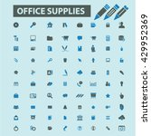 office supplies icons  | Shutterstock .eps vector #429952369