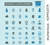 research development icons  | Shutterstock .eps vector #429952579