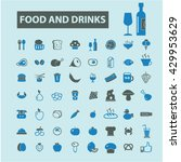 food and drinks icons  | Shutterstock .eps vector #429953629