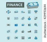finance icons  | Shutterstock .eps vector #429953644