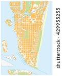 miami beach detailed vector... | Shutterstock .eps vector #429955255