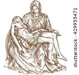 pieta statue of michelangelo on ... | Shutterstock .eps vector #429955471