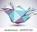 vector dimensional blue...   Shutterstock .eps vector #429955765