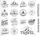 summer calligraphic travel ... | Shutterstock .eps vector #429956521