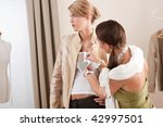 fashion model fitting clothes... | Shutterstock . vector #42997501