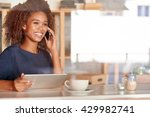 chatting on the phone and online | Shutterstock . vector #429982741