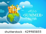 vacation travelling concept.... | Shutterstock .eps vector #429985855