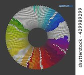 colorful circle made of small... | Shutterstock .eps vector #429989299