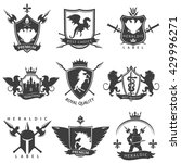heraldic black white labels... | Shutterstock .eps vector #429996271