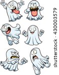 cartoon ghosts. vector clip art ... | Shutterstock .eps vector #430003579
