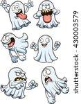 cartoon ghosts. vector clip art ... | Shutterstock .eps vector #430003579