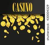 casino poster background or... | Shutterstock .eps vector #430004329