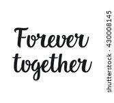 vector hand drawn lettering... | Shutterstock .eps vector #430008145