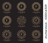 set of logos in trendy linear... | Shutterstock .eps vector #430016509