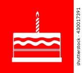 birthday cake sign | Shutterstock .eps vector #430017391