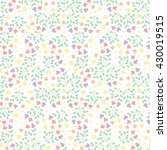 cute vector floral seamless... | Shutterstock .eps vector #430019515