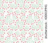 cute vector floral seamless... | Shutterstock .eps vector #430019941