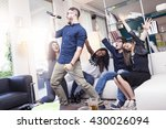 group of friends having fun at... | Shutterstock . vector #430026094