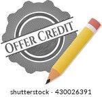 Offer Credit Pencil Emblem