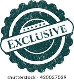 exclusive rubber stamp | Shutterstock .eps vector #430027039