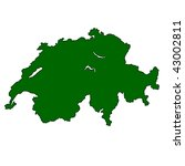 map of switzerland isolated on... | Shutterstock . vector #43002811