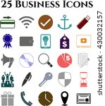 25 businessicon set. set of web ... | Shutterstock .eps vector #430032157