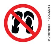 no slippers sign. vector... | Shutterstock .eps vector #430032361