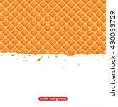 vector illustration waffle... | Shutterstock .eps vector #430033729