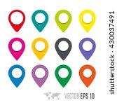 map pin flat design style... | Shutterstock .eps vector #430037491