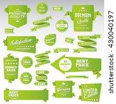 vintage labels set   origami... | Shutterstock .eps vector #430040197